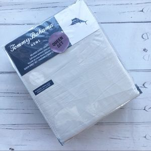 Tommy Bahama Queen Sheet set stone washed